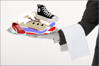 serve shirt shoes