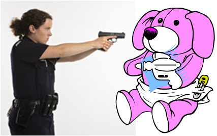 stuffed animal with taser