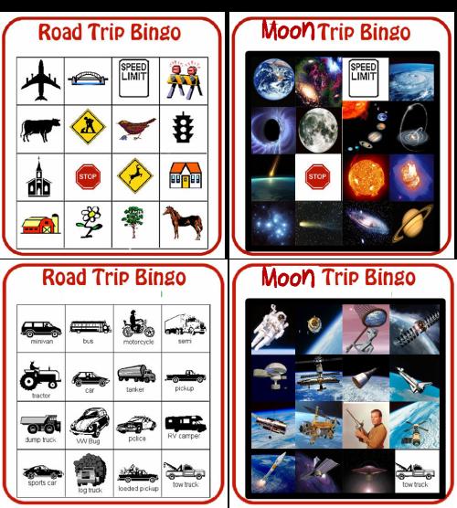 moon trip bingo